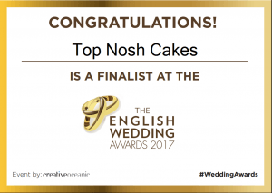 English National Wedding Awards 2017 Bespoke wedding Cakes
