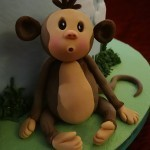 Safari celebration cake, christening cake