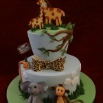 celebration and christening safari cake