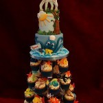 Safari Under The Sea Birthday Celebration Cupcake Tower