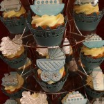 Christening Baby Shower Celebration Cupcake Cupcakes Tower