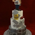 welder and mechanic birthday celebration cake