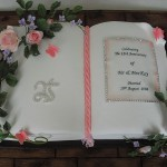 Celebration Silver Anniversary Book Cake