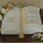 Celebration Golden Anniversary Book Cake
