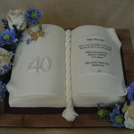 Birthday Celebration Book Cake