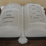 Traditional First Holy Communion Celebration Book Cake