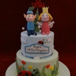 Ben and Holly's magic little kingdom birthday celebration 2 tier cake