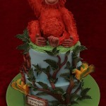 Orangutan Tropical Parrot Birthday Celebration Cake