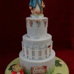 Peter Rabbit Mr Fisher 3 Tier Birthday Celebration Cake