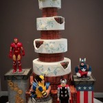 Marvel Superhero Wedding Celebration Cake
