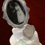 Photo Frame Picture Diamante Silver Anniversary Celebration Cake