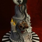 Sleepy Hollow Headless Horseman Skeleton Skull Moody Birthday Celebration Cake