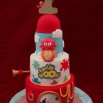 Twirlywoos 1st Birthday Seaside Beach Celebration Cake