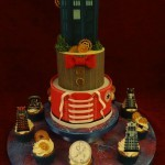 Dr Who Inspired Birthday Celebration Cake