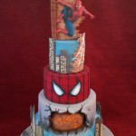 Superhero Marvel Spiderman Birthday Celebration Novelty Cake