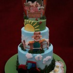 Farmyard Animals Tractor Birthday Celebration Cake
