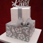 Elegant and Stylish Floral 2 Tier Celebration Birthday Cake