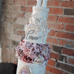 Beauty and The Beast Tiered Modern Wedding Cake