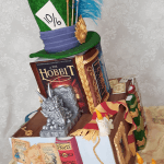 Novelty Stacked Books Tiered Wedding Cake